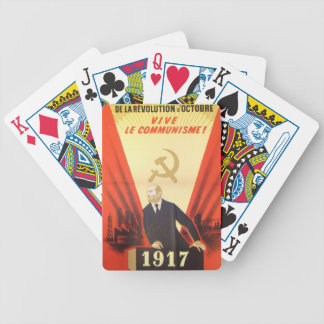 French Vintage Communist Propaganda Bicycle Playing Cards