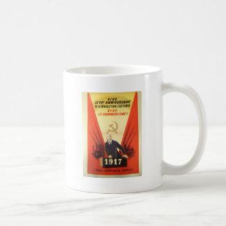French Vintage Communist Propaganda Coffee Mug