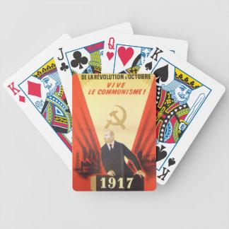 French Vintage Communist Propaganda Poker Deck