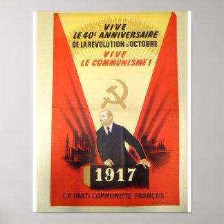 French Vintage Communist Propaganda Poster