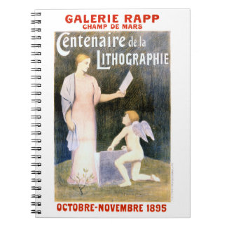 French Vintage Exhibit Poster Restored Notebook