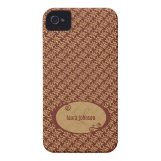 French Vintage Floral Pattern iPhone 4 Case-Mate Cases