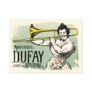 French Vintage Maguerite Dufay Trombone Poster Canvas Print