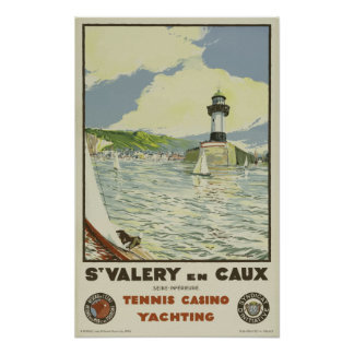 French Vintage Railway Travel Poster  St Valery