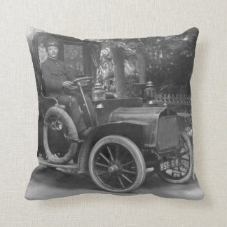 French vintage taxi pillow
