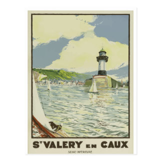 French Vintage Travel Postcard St Valery en Caux