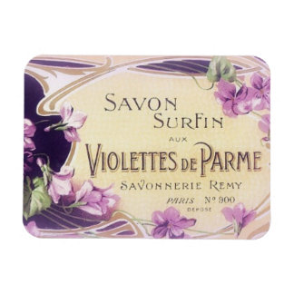 French Violets Magnet