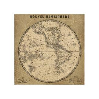 French World Map III 4 Wood Prints