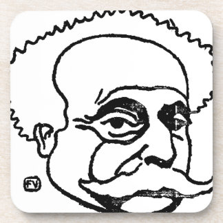 French writer Alexandre Dumas by Felix Vallotton Drink Coaster