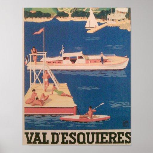 French Yacht Resort Poster