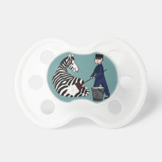 French Zookeeper Zebra Funny Stripes Vintage Pacifier