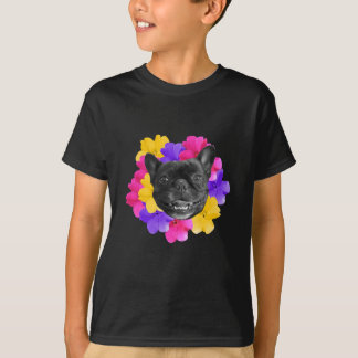 Frenchie and Pansies T-Shirt
