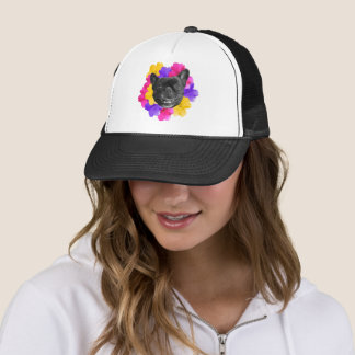 Frenchie and Pansies Trucker Hat