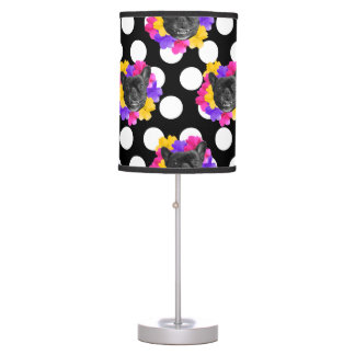Frenchie and Pansy Dots Lamp