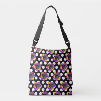 Frenchie and Pansy Dots Tote Bag