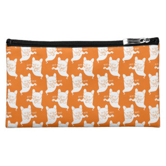 Frenchie Boo Boo Halloween Ghost Makeup Bag