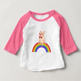 Frenchie celebrates Pride Month on LGBTQ rainbow Baby T-Shirt