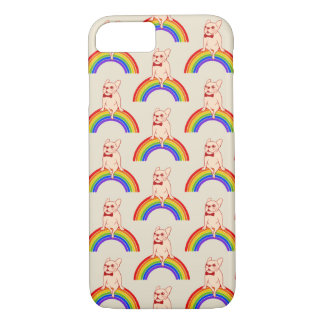 Frenchie celebrates Pride Month on LGBTQ rainbow Case-Mate iPhone Case