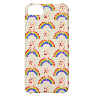 Frenchie celebrates Pride Month on LGBTQ rainbow Cover For iPhone 5C