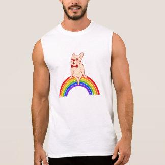 Frenchie celebrates Pride Month on LGBTQ rainbow Sleeveless Shirt