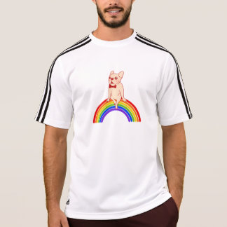 Frenchie celebrates Pride Month on LGBTQ rainbow T-Shirt