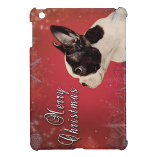 Frenchie Christmas card Case For The iPad Mini