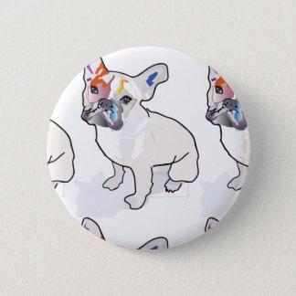 frenchie clown 2 inch round button