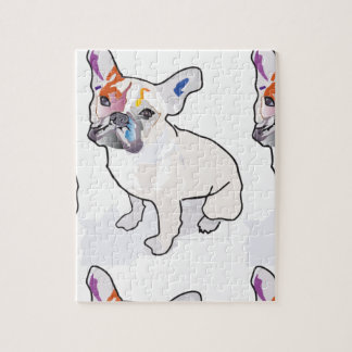 frenchie clown jigsaw puzzle