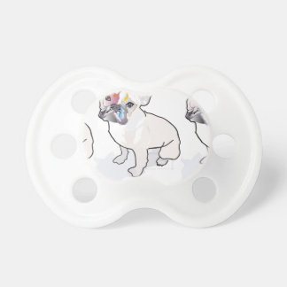 frenchie clown pacifier