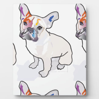 frenchie clown plaque