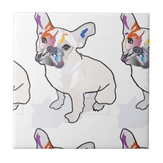 frenchie clown tile