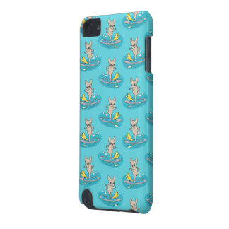 Frenchie doing yoga on stand-up paddle board iPod touch 5G case