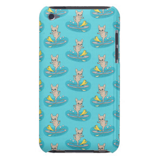 Frenchie doing yoga on stand-up paddle board iPod touch Case-Mate case