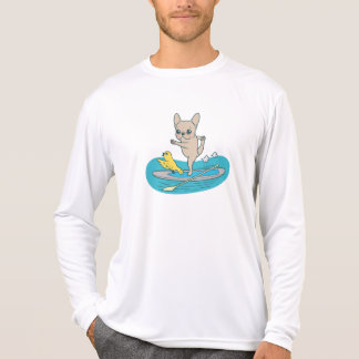 Frenchie doing yoga on stand-up paddle board T-Shirt