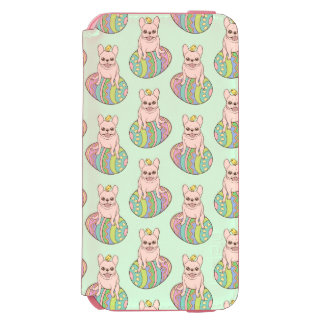 Frenchie & Easter Chick on Colorful Easter Egg Incipio Watson™ iPhone 6 Wallet Case
