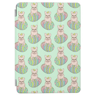 Frenchie & Easter Chick on Colorful Easter Egg iPad Air Cover