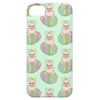 Frenchie & Easter Chick on Colorful Easter Egg iPhone 5 Cover