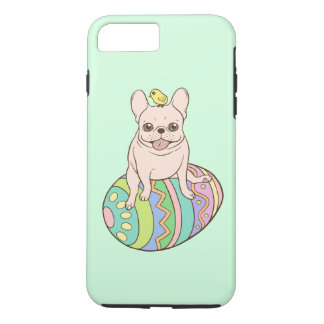 Frenchie & Easter Chick on Colorful Easter Egg iPhone 8 Plus/7 Plus Case