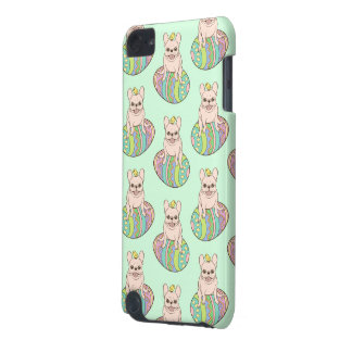 Frenchie & Easter Chick on Colorful Easter Egg iPod Touch (5th Generation) Cover