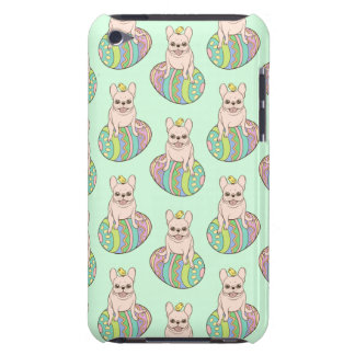 Frenchie & Easter Chick on Colorful Easter Egg iPod Touch Case-Mate Case