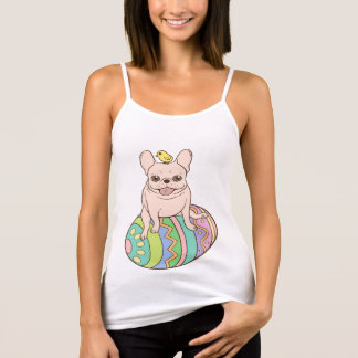 Frenchie & Easter Chick on Colorful Easter Egg Tank Top