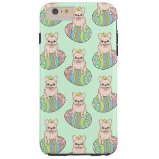 Frenchie & Easter Chick on Colorful Easter Egg Tough iPhone 6 Plus Case