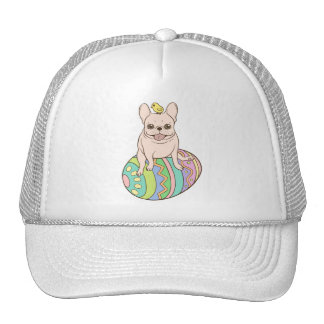 Frenchie & Easter Chick on Colorful Easter Egg Trucker Hat