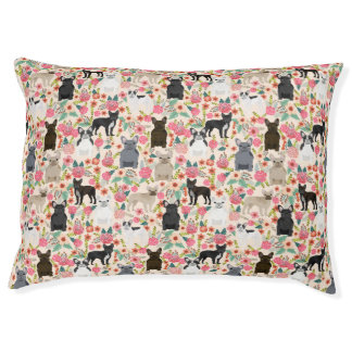 Frenchie Floral Pet Bed - dog bed