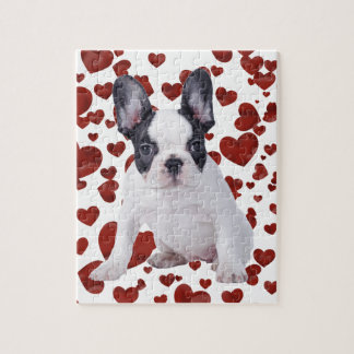 Frenchie - French bulldog puppy Jigsaw Puzzle