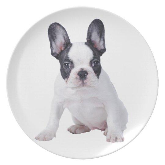 Frenchie - French bulldog puppy Plate