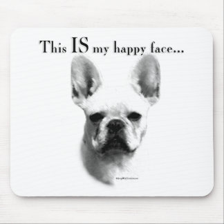 Frenchie Happy Face Mouse Pad