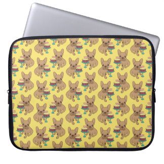 Frenchie has a Birthday Laptop Computer Sleeve