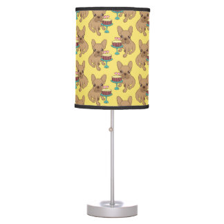 Frenchie has a Birthday Table Lamp
