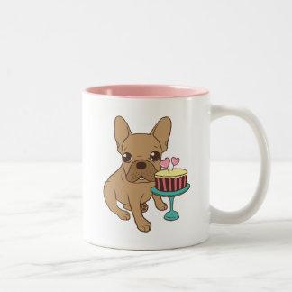 Frenchie has a Birthday Two-Tone Coffee Mug